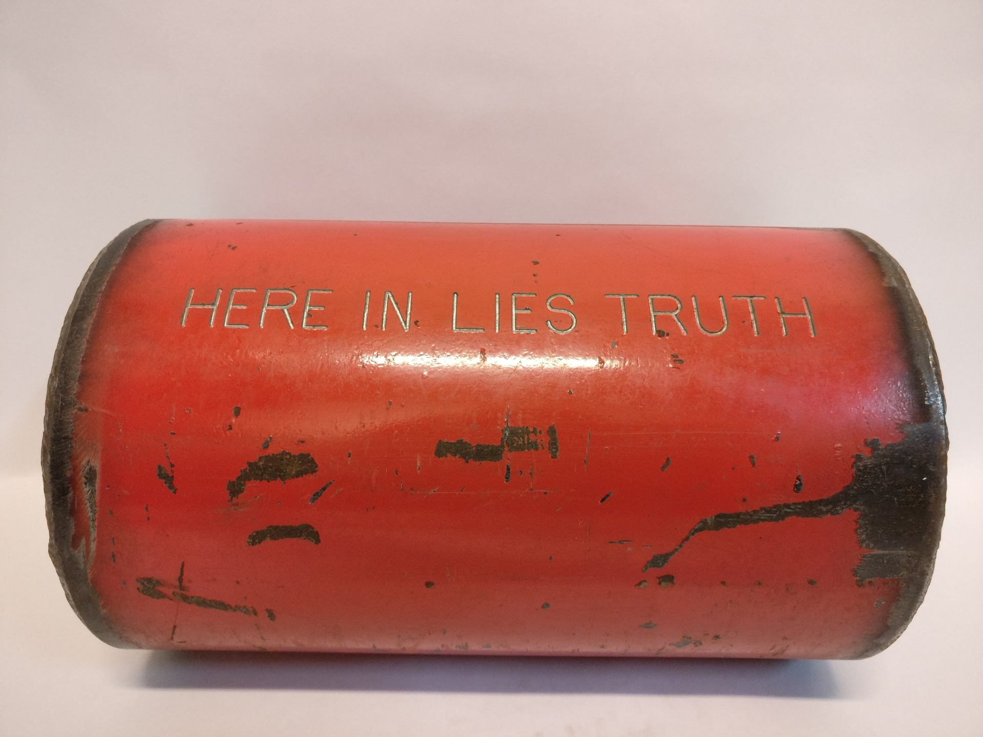 Here In Lies Truth, 1970 – present, painted steel