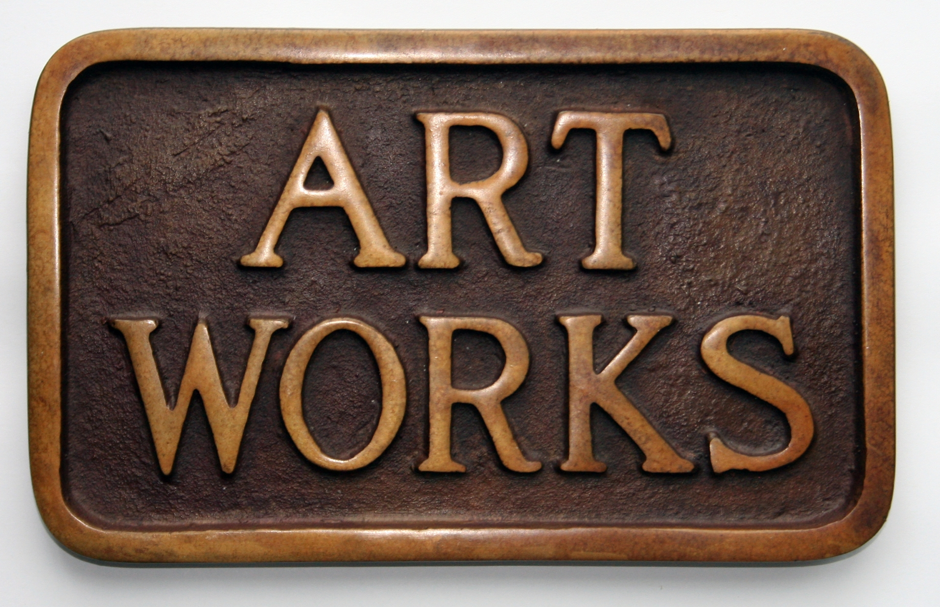 Art Works (Sidewalk Plaque), 1968, bronze