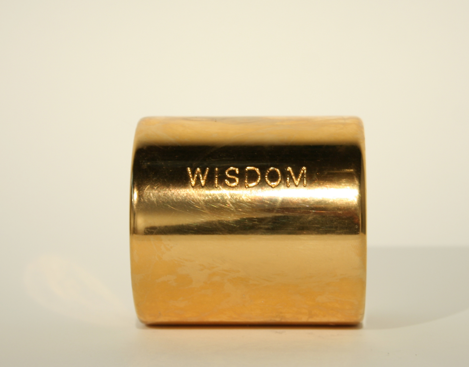 Wisdom, 1970-now, steel with gold plating