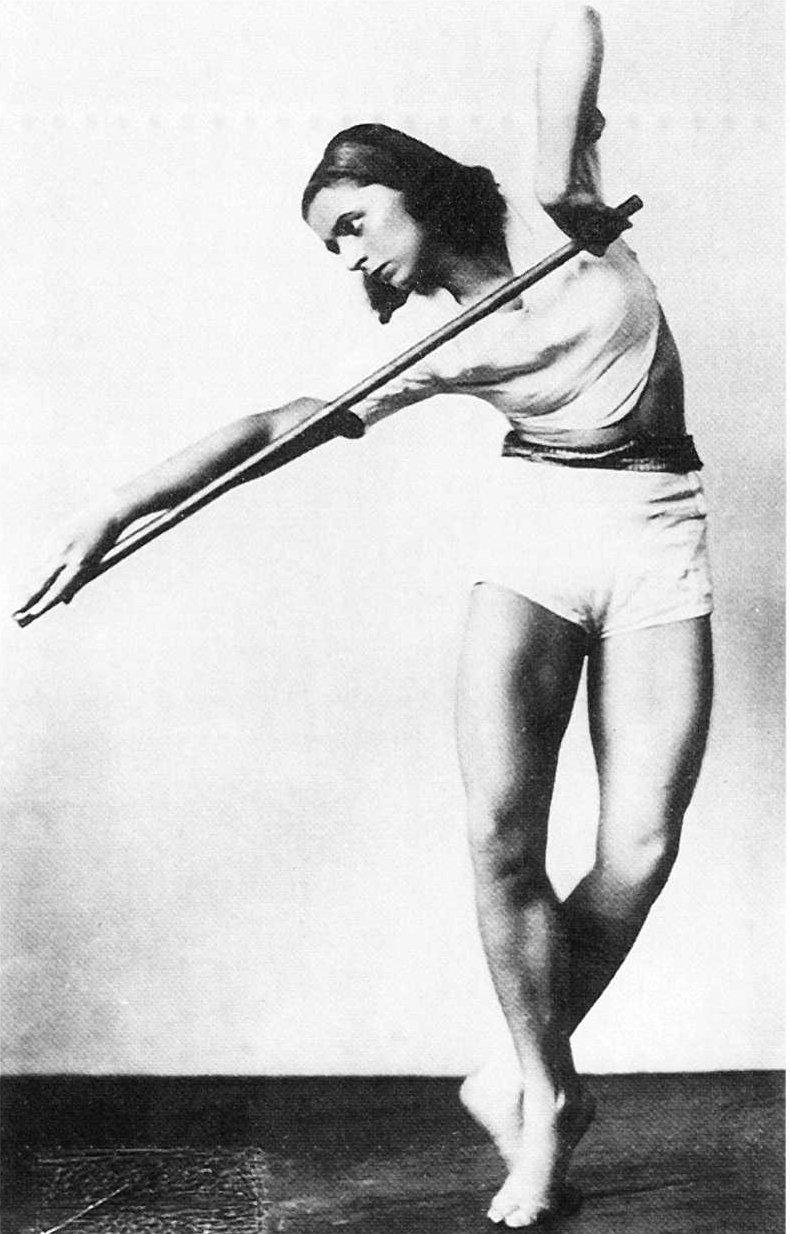 Rosalia Chladek, Taniec z drążkiem, 1930, Austriacka Biblioteka Narodowa, Wiedeń