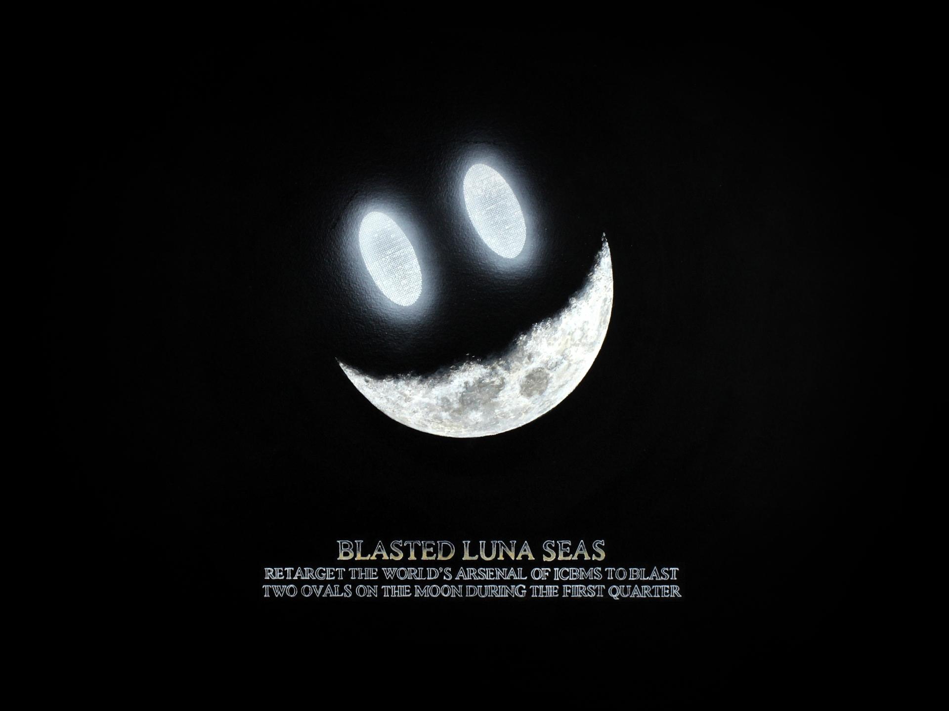 Stephen Kaltenbach, Morza wysadzone w powierzchni księżyca, 2007, węgiel i akryl, papier