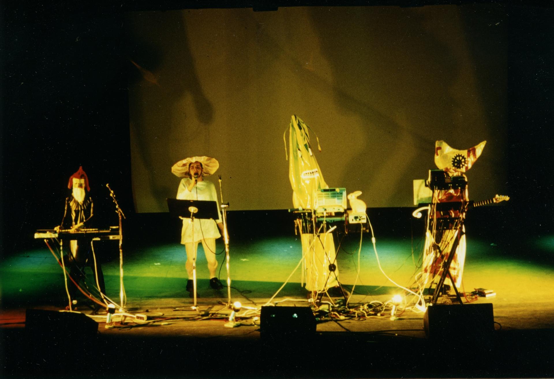 AG. Geige, 3. Internationales Art Rock Festival, Frankfurt nad Menem, 1991, fot. Dieter Wuschanski