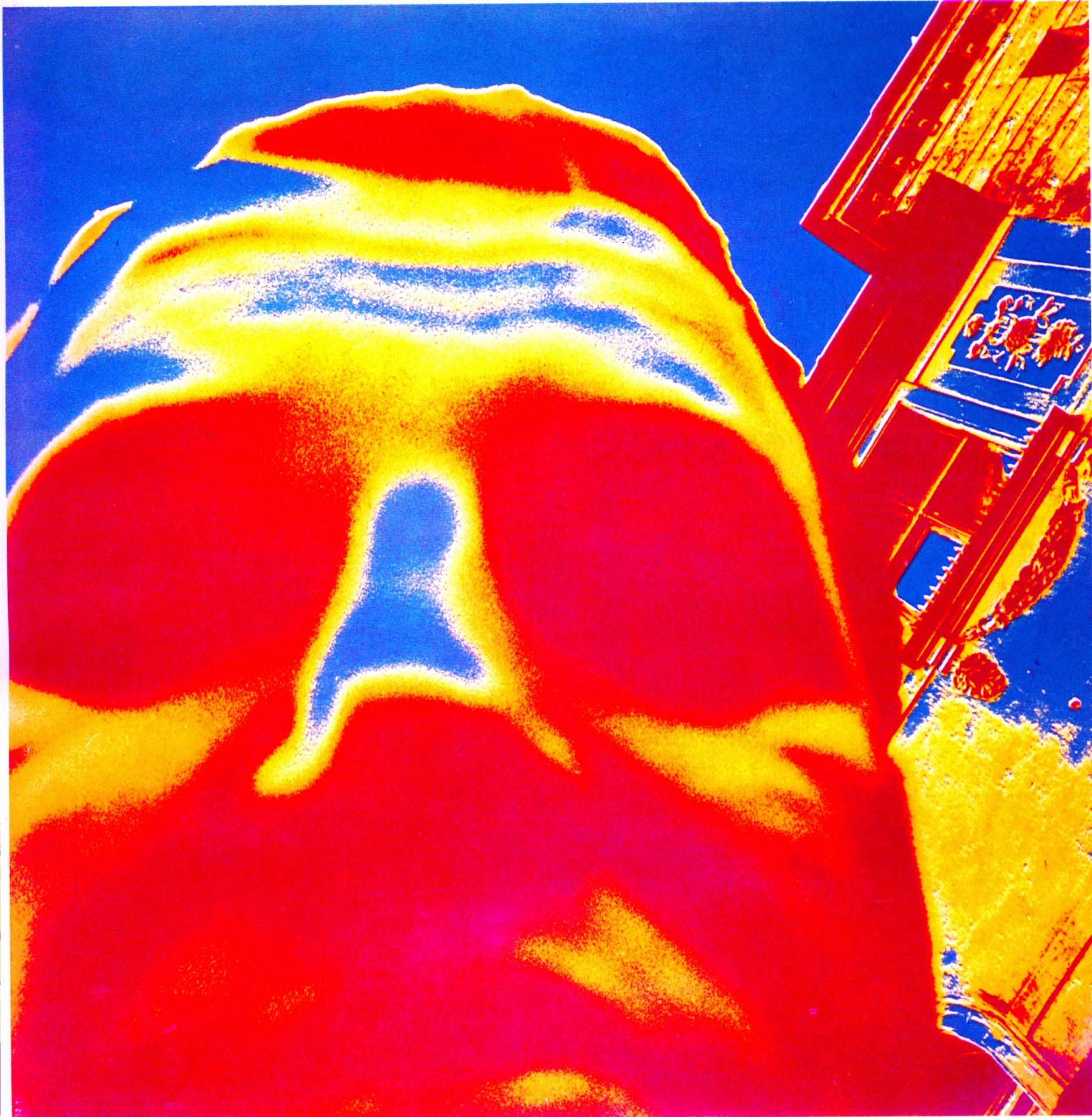Czesław Kuchta, Autoportret, 1966, technika własna, barwna odbitka żelatynowo-srebrowa, kolekcja Muzeum Sztuki w Łodzi