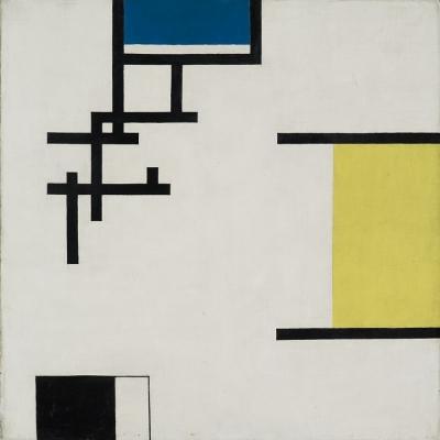 Jean Helion, Kompozycja, 1930, olej, płótno, 50,5 × 50,5 cm, Muzeum Sztuki, Łódź