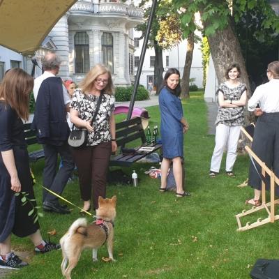 Publiczność w ogrodzie, fot. A. Jurek