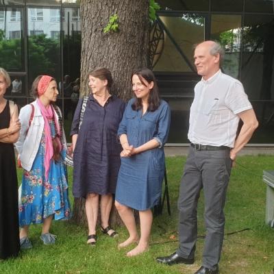Spotkanie byłych pracowników Muzeum Sztuki z Olgą Stanisławską, fot. A. Jurek