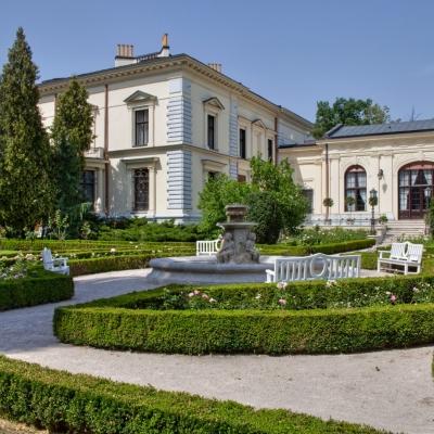 Widok ogrodu Muzeum Pałac Herbsta, fot. Hi Res Olo Studio