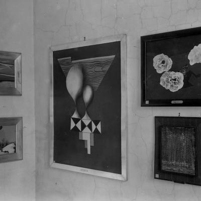 Ekspozycja w Miejskim Muzeum Historii i Sztuki im. J. I K. Bartoszewiczów w Łodzi, lata 30. XX wieku, Archiwum Muzeum Sztuki, Łódź