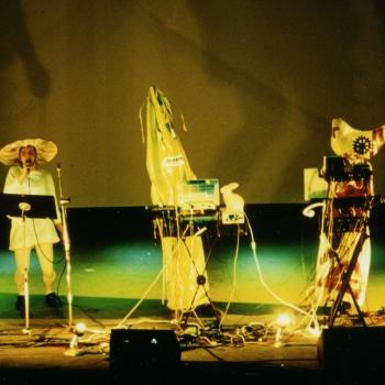 AG Geige, 3. Internationales Art Rock Festival, Frankfurt, Main, 1991, photo Dieter Wuschanski