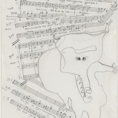 Franciszka i Stefan Themerson, Pięć kotletów z kuchni, 1986, Muzeum Sztuki, Łódź Praca na stałej ekspozycji Atlasu Nowoczesności,ms2