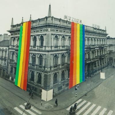 W. Karolak, Projekt elewacji Niedziela w Muzeum Sztuki, 1976