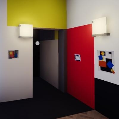 Virtual Neoplastic Room, still frame