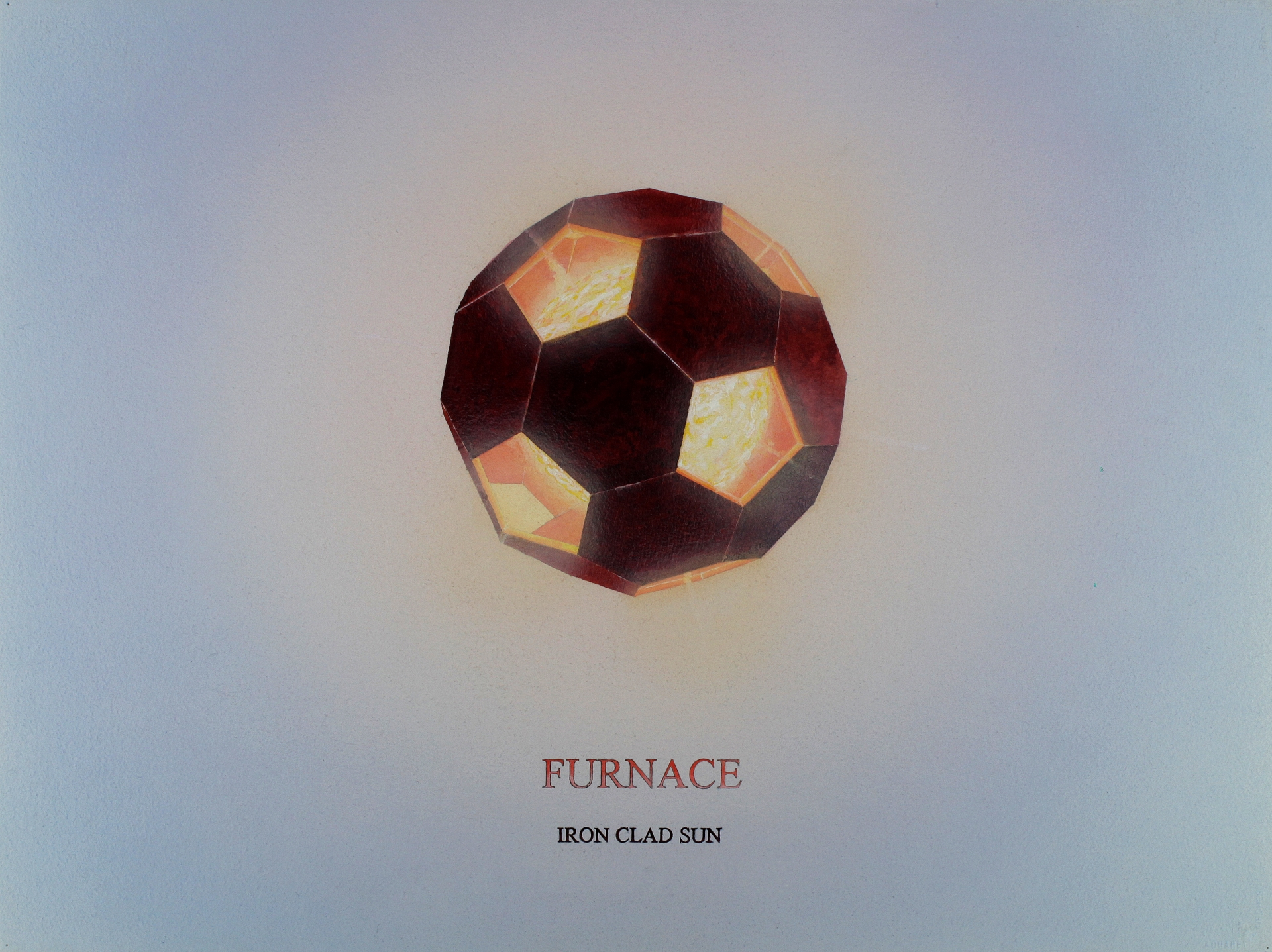 Furnace, 2007, acrylic, graphite on paper