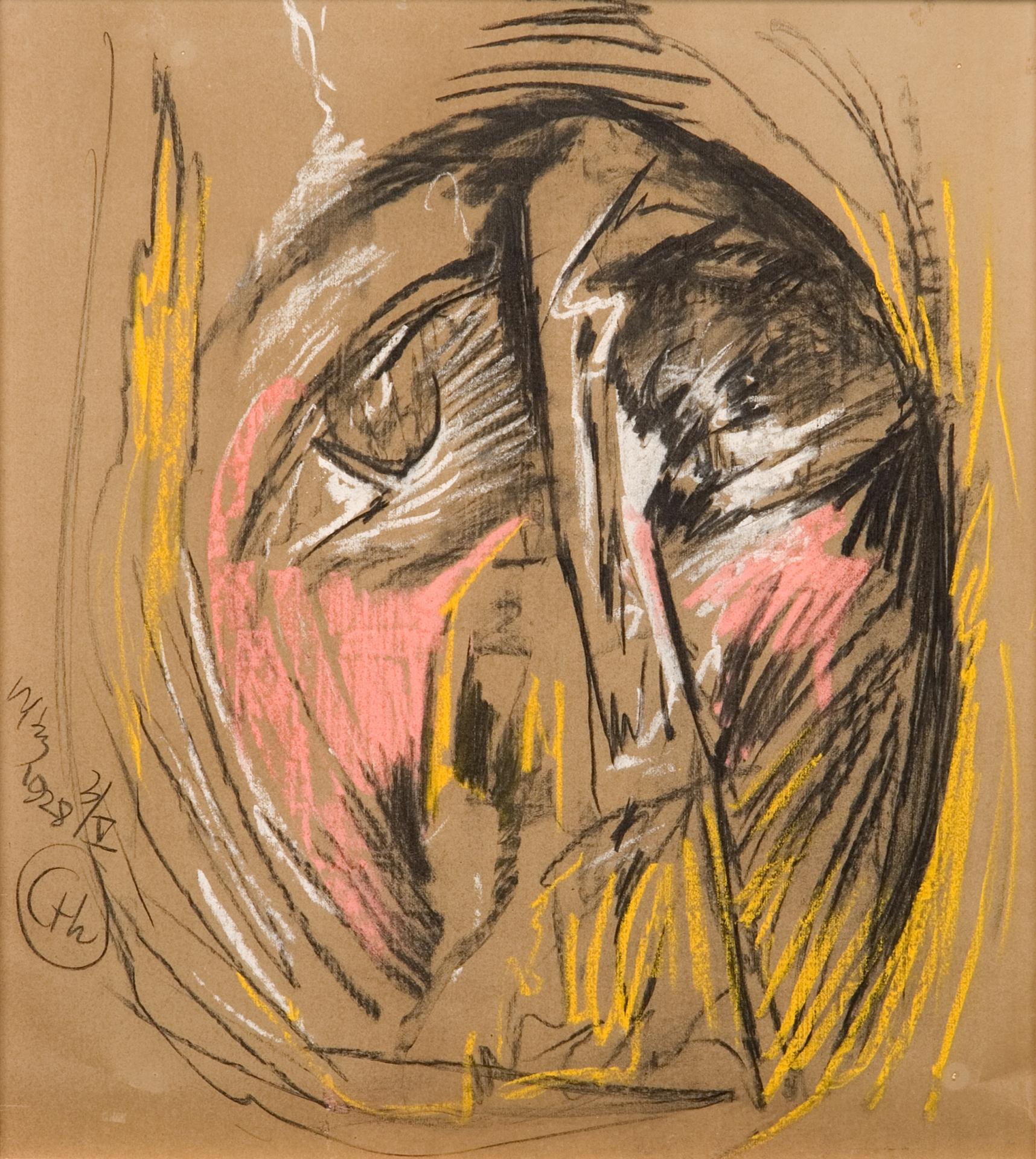 Stanisław Ignacy Witkiewicz, Portret nieokreślonej osoby, 1928
