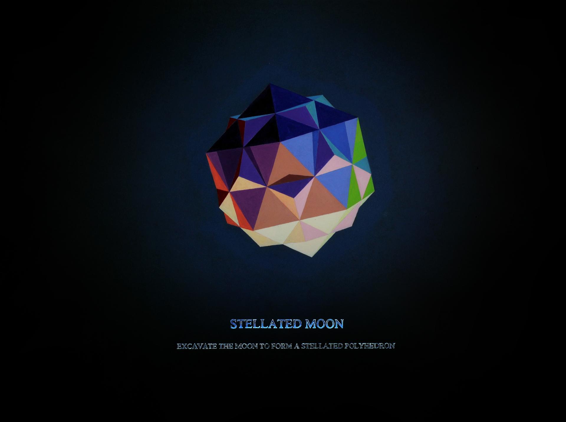 Stephen Kaltenbach, Księżyc zmieniony w gwiazdę, 2008, akryl, papier