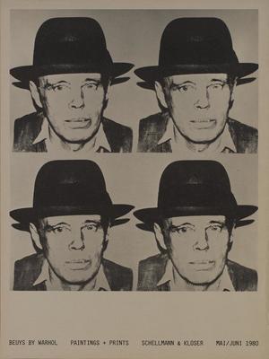 """Joseph Beuys, """"Beuys by Warhol"""",  grafika, 1980, Muzeum Sztuki w Łodzi"""