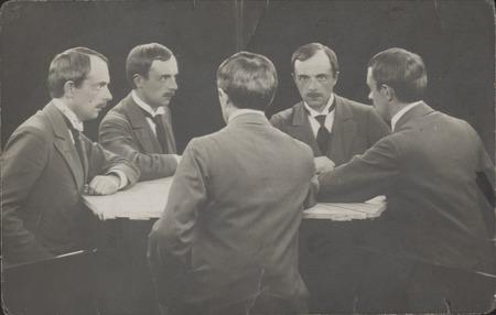 """Wacław Szpakowski, """"Portret wielokrotny"""", fotografia czarno - biała, 1912, z kolekcji Muzeum Sztuki w Łodzi"""