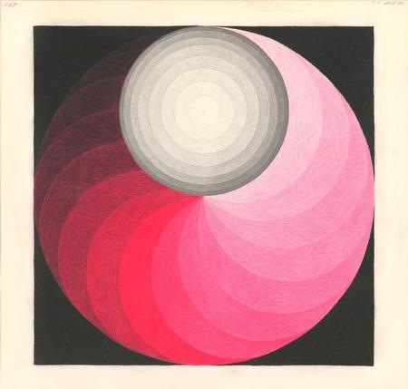 """Zanis Waldheims, """"Rysunek nr 587"""", rysunek kredkami na papierze, 1966, z kolekcji Łotewskiego Narodowego Muzeum Sztuki"""