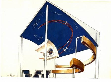 Enrico Prampolini, Plan instalacji architektonicznej na Triennale w Mediolanie, 1932–1933