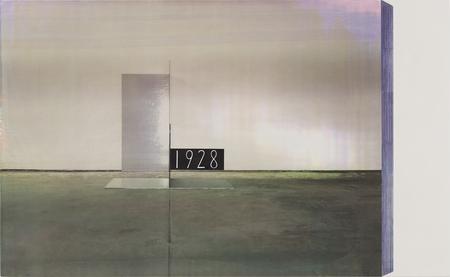 """RH Quaytman, Łódzki wiersz, Rozdział 2 (Replika Kompozycji przestrzennej Kobro, 1928), 2004, zakup finansowany ze środków Ministra Kultury i Dziedzictwa Narodowego w ramach programu """"Narodowe kolekcje sztuki współczesnej"""""""