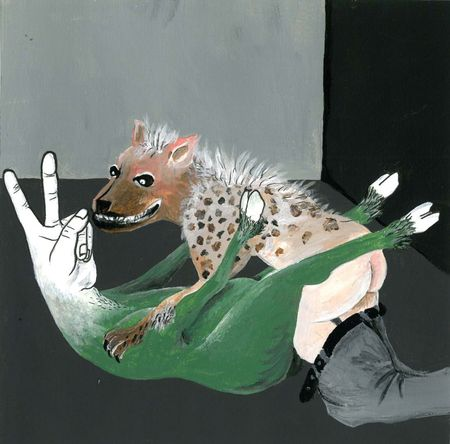 "Elika Hedayat (b. 1979), ""Untitled"", 2010, acrylic, stylo and felt-tip on paper, 17,5 × 17,5 cm, collection of Antoine de Galbert, Paris, photo: Arthur Toqué"