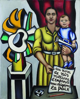 Nadia Petrova (Nadia Léger), Maternité (Macierzyństwo), 1950–52, olej, płótno, 162 x 130 cm / © Estate of Nadia Léger, Francja