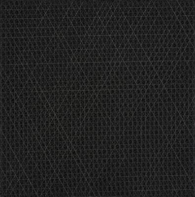 François Morellet, Kompozycja pod kątem 15, 30, 45, 60, 75, 90 stopni, drewno, farba, Muzeum Sztuki w Łodzi