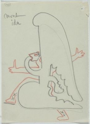 Sergei Eisenstein, drawings from the series: Untitled, n. d., colored pencil on paper, private collection: Alexander Gray Associates, New York; Matthew Stephenson, London