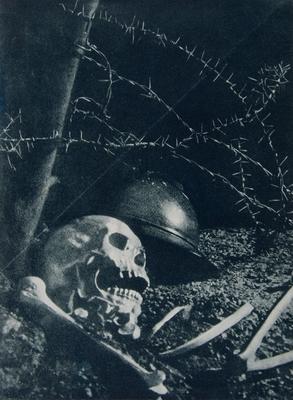Jan Alojzy Neuman Symbol wojny/Symbol of War, 1930 fotomontaż/photomontage, Muzeum Sztuki w Łodzi