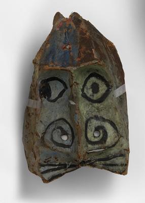 Franciszka Themerson, Maski Ubu, 1951, farba olejna na papier-maché © Themerson Estate, London Richard Saltoun Gallery, London