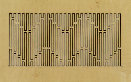"""Wacław Szpakowski, """"A 11"""", rysunek tuszem na kalce technicznej, ok. 1924, z kolekcji Muzeum Sztuki w Łodzi"""