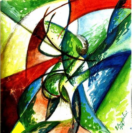 Enrico Prampolini, Kompozycja futurystyczna – dynamizm form, 1914
