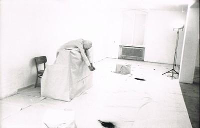 """""""Koncert"""",  Kunstlerhaus  Stuttgart, 1981, from the archives of Marek Chlanda, Kraków"""