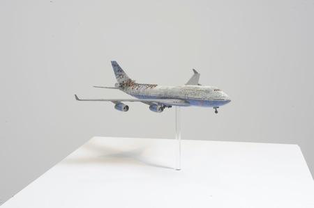 "John Isaacs (b. 1968), ""Voices from the ID"", 2001, model plane, 40 × 40 × 15 cm, collection of Antoine de Galbert, Paris, photo: Arthur Toqué"