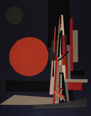 Nadia Léger, Naissance de Mouvement (Envol I) [Narodziny ruchu (Wzlot I)], 1922–1968, olej, płótno, 92 x 73 cm / © Estate of Nadia Léger, Francja