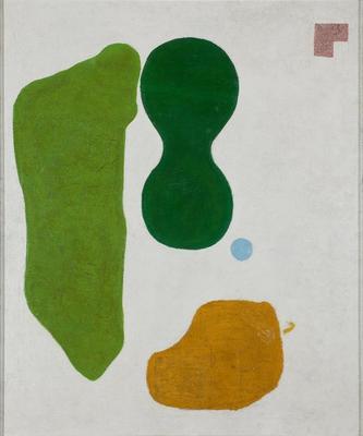 Władysław Strzemiński Kompozycja syntetyczna 1/ Synthetic Composition 1, 1923 farby olejne, płótno/ oil paint, canvas, Muzeum Sztuki w Łodzi