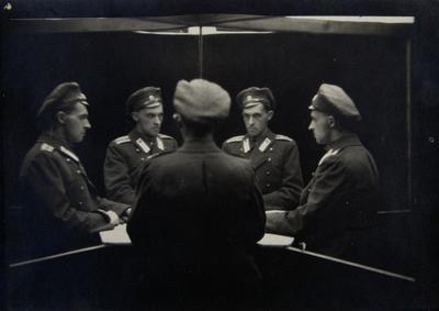 Stanisław Ignacy Witkiewicz Portret wielokrotny/ Multiple Portrait, ok./ca 1917 fotografia/photography, Muzeum Sztuki w Łodzi