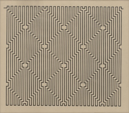 "W. Szpakowski, ""B 6"" from the ""B"" series, 1924, ink, tracing paper 33,8 × 40,3 cm, collection of Muzeum Sztuki"