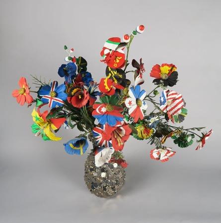 """Frank Scurti, """"Bez tytułu (malowane kwiaty 3)"""", 2001, fot. Arthur Toqué, Kolekcja Antoine'a de Galberta, Paryż"""