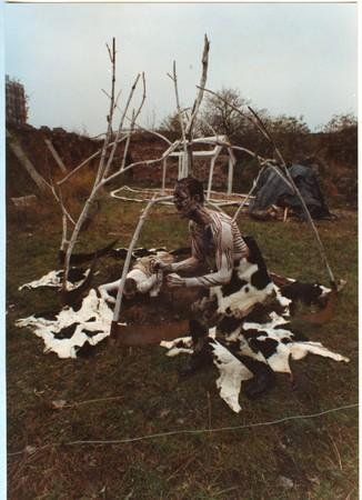Ziemia Mindel Würm, CH3 NH CH 2, Gdańsk, 1990, photo courtesy of Marek Rogulski and Piotr Wyrzykowski.