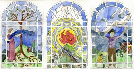 Colors are the Deeds of Light, 2007–2016 ,stained-glass design, courtesy of the artists