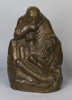 Käthe Kollwitz  Pietà, 1937-38  brąz/bronze, Muzeum Sztuki w Łodzi