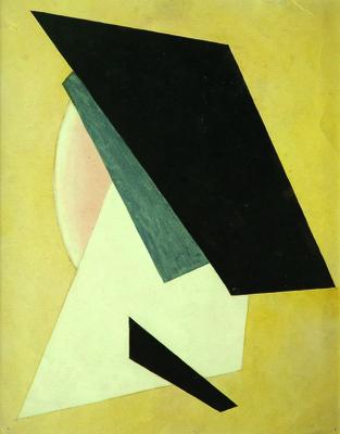 Lubow Popova, Kompozycja, 1910-1911, gwasz, papier, Mystetskyi Arsenal, Kijów