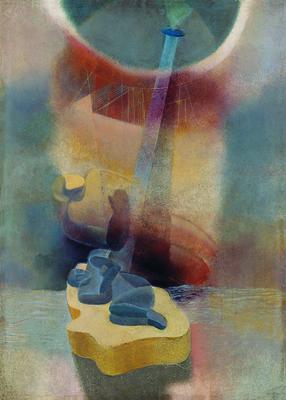 Karol Hiller, On the Ice Floe, ca. 1938-1939, oil, cardboard, Muzeum Sztuki in Łódź