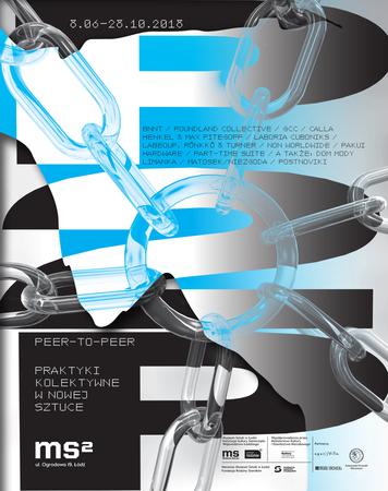 Peer-to-peer. Collective Practices in New Art, exhibition's poster, design: Noviki