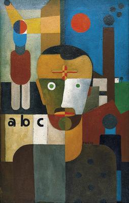 Wilhelm Seiwert, Selbstbildnis, 1928, olej, płótno/ oil, canvas Von der Heydt-Museum, Wuppertal