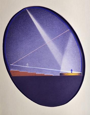 Enrico Prampolini, Projekt architektoniczny Teatru jajko na wystawę E-42, 1940–1941