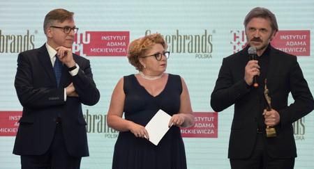 Od lewej: dyrektor IAM Krzysztof Olendzki, prezes Superbrands Polska Nina Kowalewska-Motlik oraz dyrektor Muzeum Sztuki w Łodzi Jarosław Suchan, fot. B. Syta
