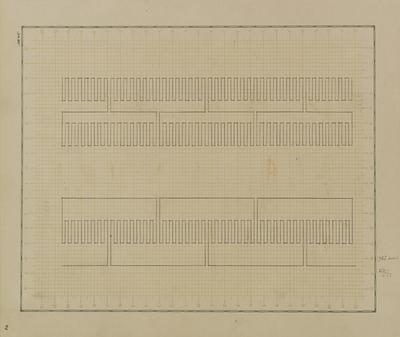 Wacław Szpakowski, z Albumu linii rytmicznych, 1953–1954, ołówek, papier, Muzeum Sztuki w Łodzi