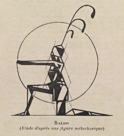 Valentine de Saint-Point, Métachorie (studium postaci), 1914, NYPL